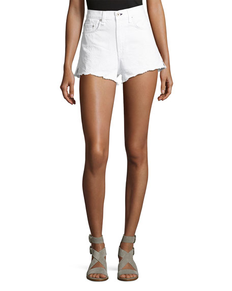 rag & bone/JEAN Justine High-Rise Cutoff Jean Shorts,