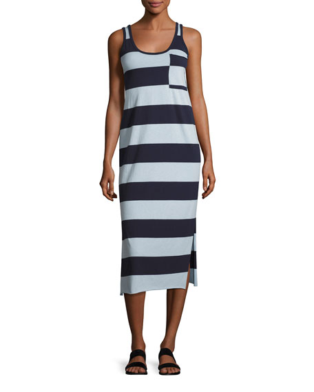 ATM Anthony Thomas Melillo Striped Mercerized Jersey Dress,