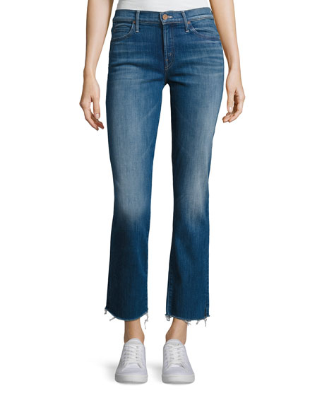 Mother Denim Rascal Ankle Snippet Denim Jeans, Indigo