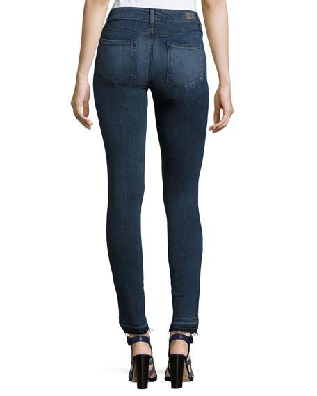 Verdugo Undone Hem Ultra Skinny Jeans, Indigo