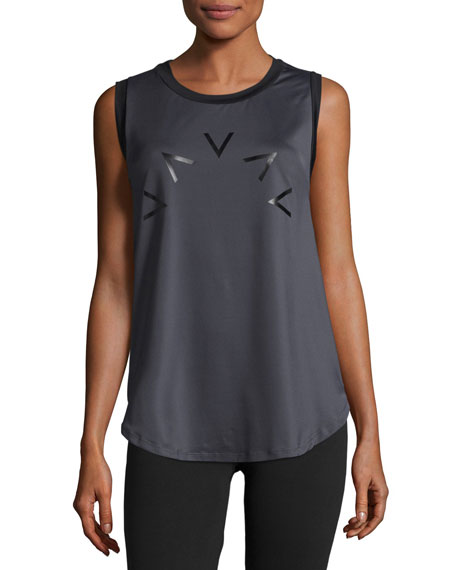 Selma Crew Neck Technical Vest, Dark Gray