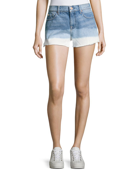 7 For All Mankind High-Waist Cutoff Shorts, Indigo