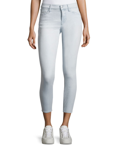 J Brand 835 Mid-Rise Skinny Capri Jeans, Blue
