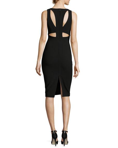 Albury Cutout Sleeveless Sheath Dress, Black