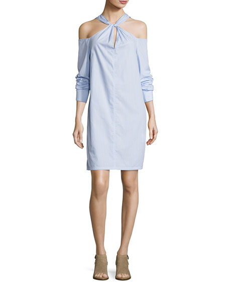 Rag & Bone Collingwood Long-Sleeve Cold-Shoulder Dress