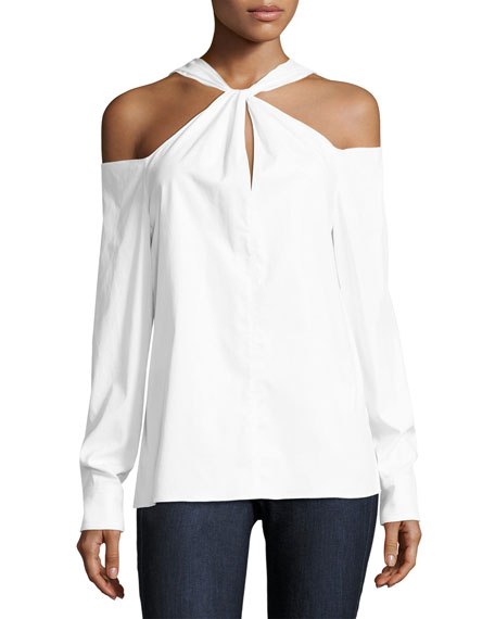 Rag & Bone Collingwood Cold-Shoulder Long-Sleeve Top