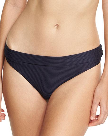 Heidi Klein Hamptons Fold-Over Swim Bottom, Blue and