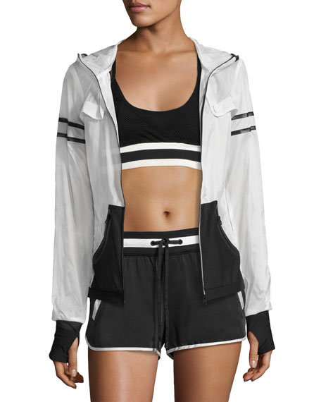 Blanc Noir Allegro Crop Top/Sports Bra, Black and