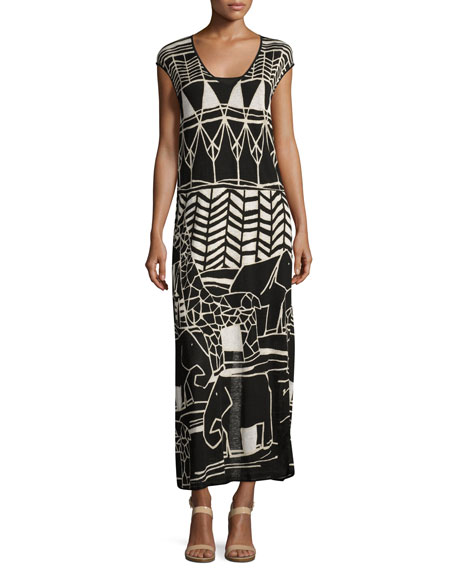NIC+ZOE Wild Things Graphic-Print Maxi Dress, Petite