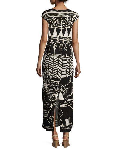 Wild Things Graphic Print Maxi Dress, Plus Size