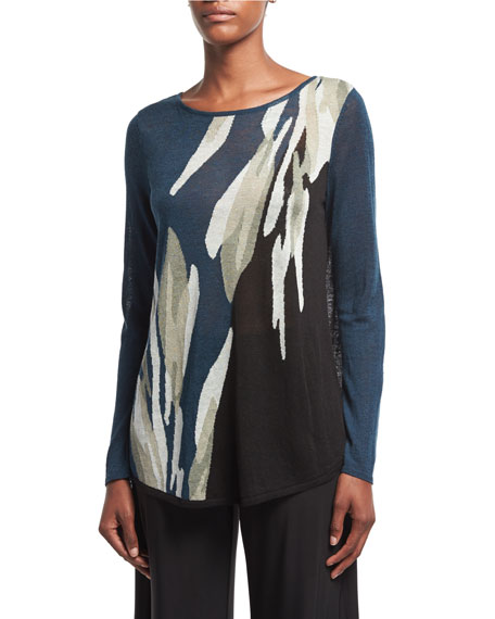 NIC+ZOE Wild Thyme Long-Sleeve Pullover Top, Plus Size