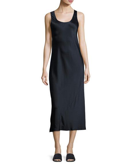 Bias-Seam Sateen Slip Dress