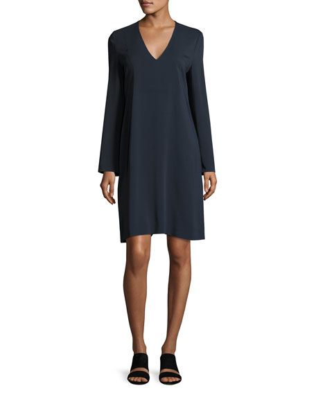 V-Neck Tunic Dress, Coastal