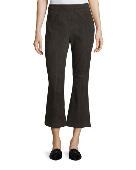 St. John Collection Stretch-Suede Capri Pants