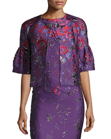 Hania Floral Jacquard Jacket