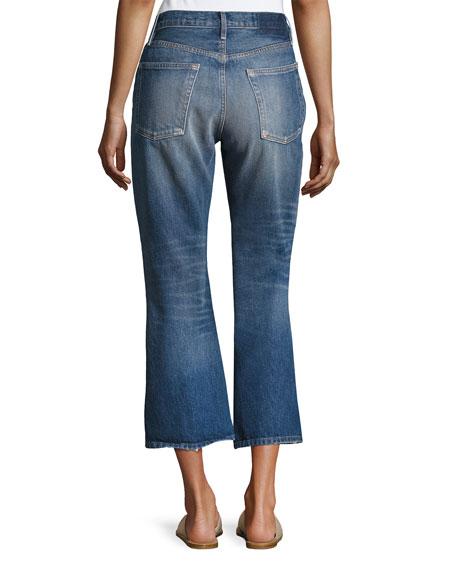 Rigid Release Le Crop Flare Denim Jeans, Blue