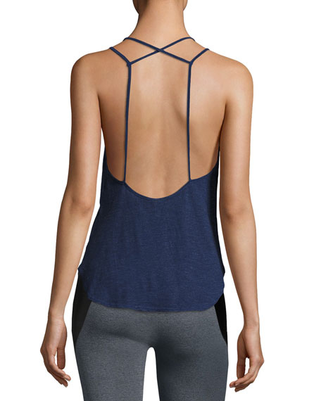 Lanston X-Back Scoop-Neck Cami Top, Purple