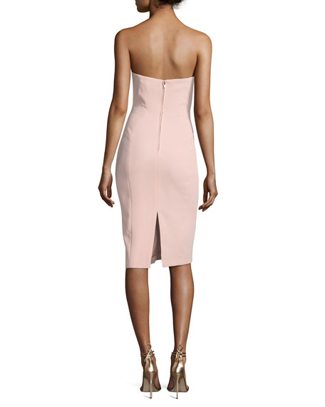 Strapless Structured Cocktail Dress