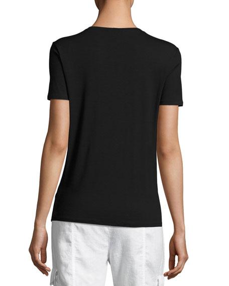 Short-Sleeve Lightweight Jersey Top, Petite