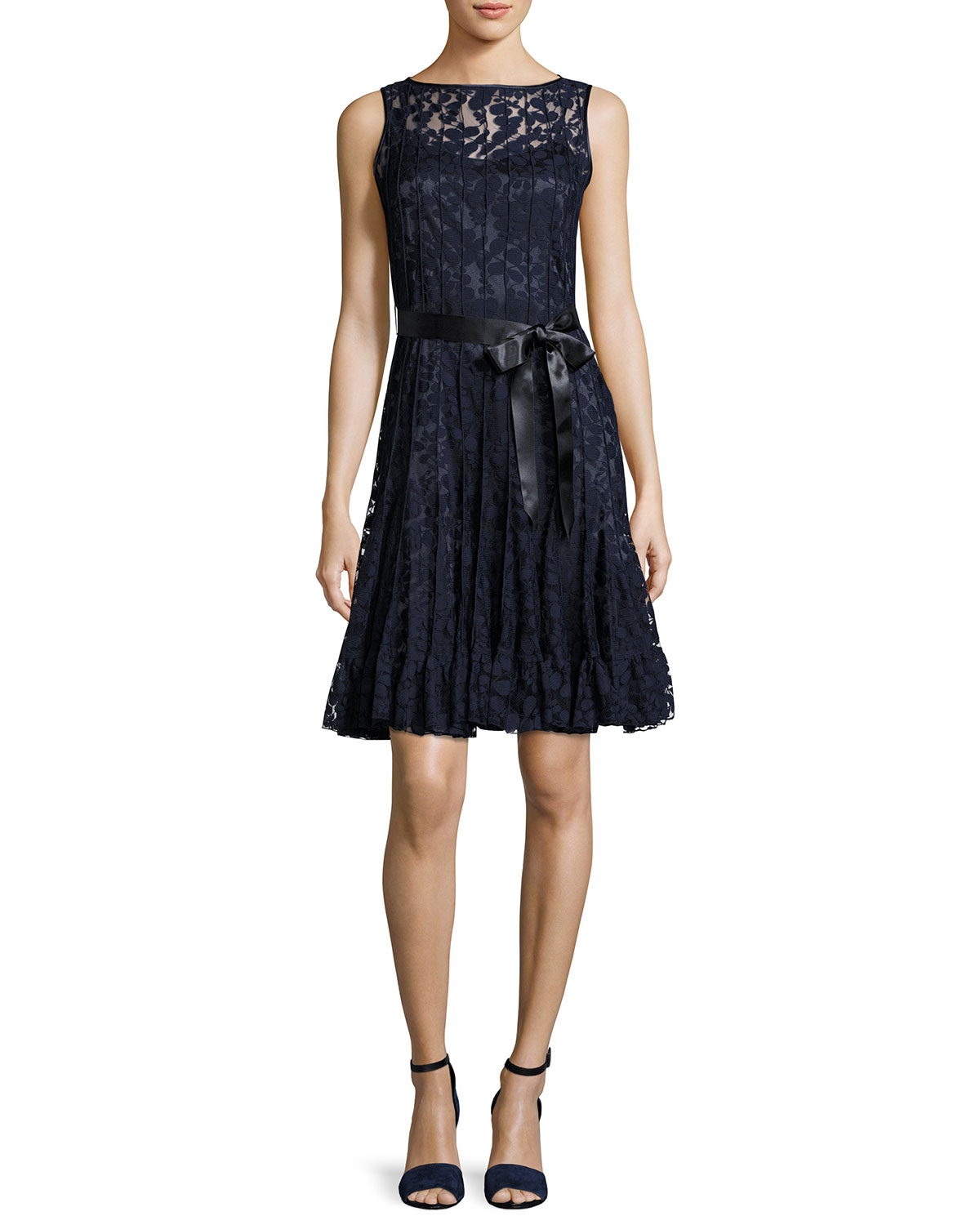 Rickie Freeman for Teri Jon Lace Overlay Cocktail Dress, Navy ...