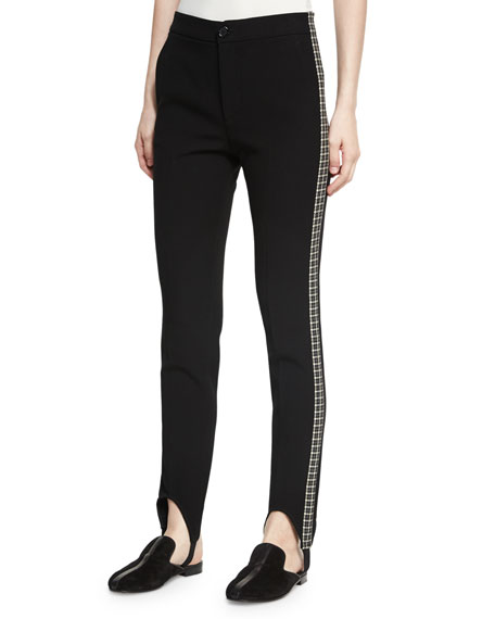 Helmut Lang Stirrup Side Insert Pants, Black