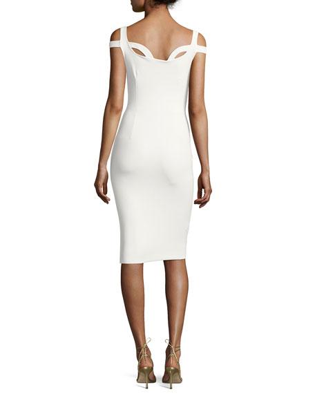 Every Sleeveless Cutout Jersey Cocktail Dress