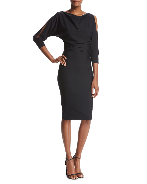 Black Blouson Cocktail Dress