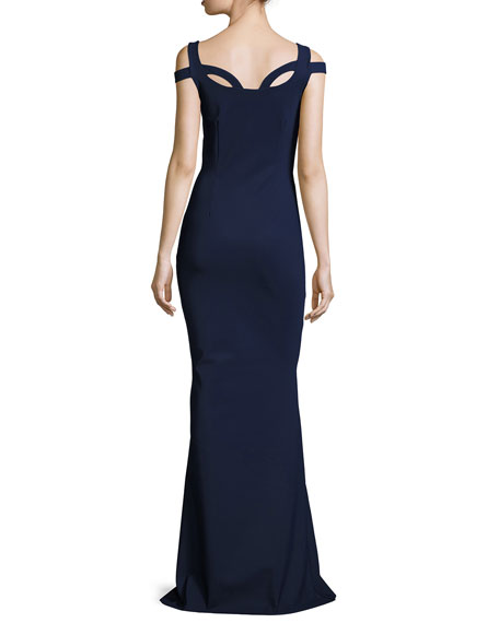 Every Long Loop-Neck Column Gown