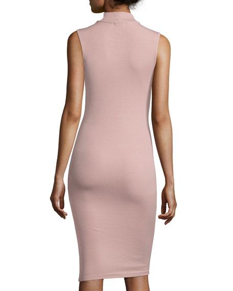 Modal Rib Sleeveless Jersey Dress