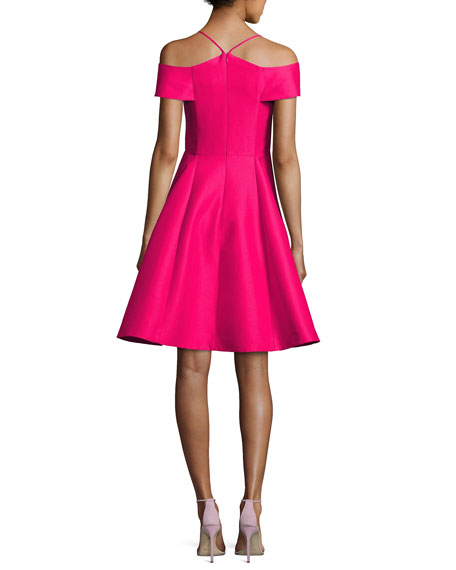Sleeveless Split-Neck A-line Cocktail Dress