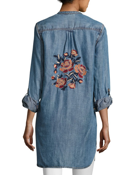 Joselyn Chambray Tunic, Plus Size