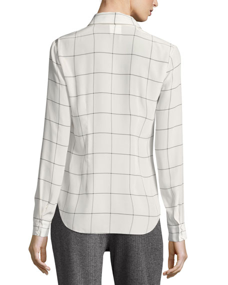 Alice   Olivia Lucinda Combo Cropped Sweater Vest w/ Shirt