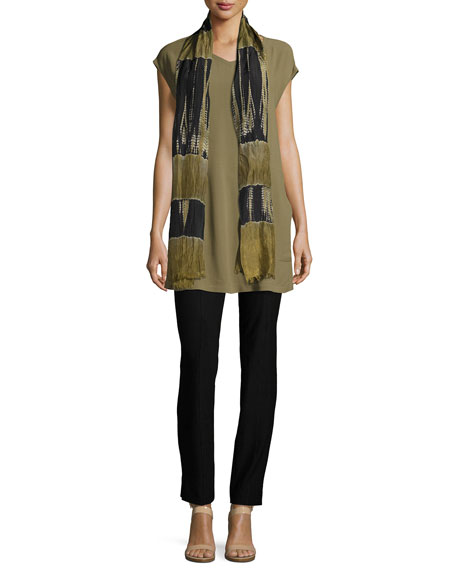PET SILK GRGT CREPE TUNIC