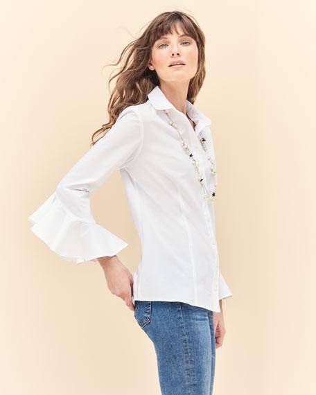 Carmella Silky Poplin Shirt , Plus Size