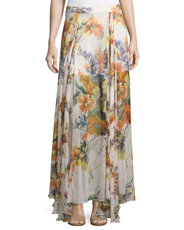 Quick Look. Haute Hippie · Chance Floral-Print Silk Maxi Skirt, Multi