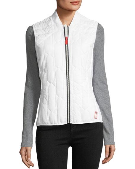 Zip-Front Quilted Mid-Layer Vest