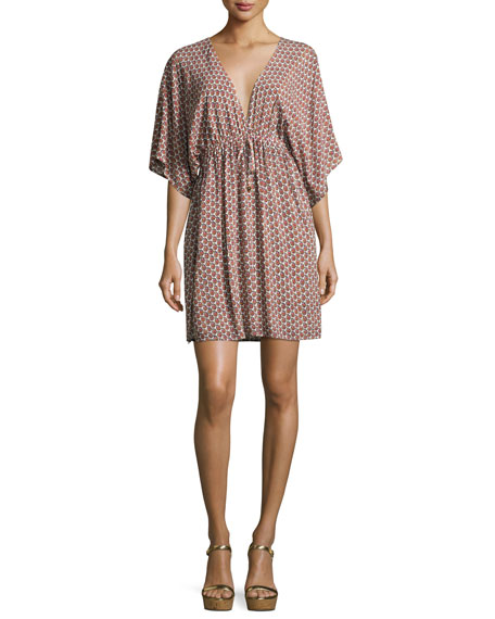 Gabriella Beach Coverup Dress, Multi