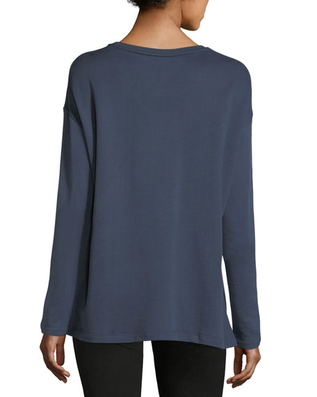 Cotton-Blend V-Neck Sweatshirt