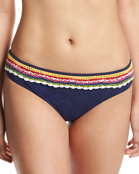 Nanette Lepore Peace Love Charmer Swim Bottom, Blue