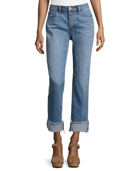 Tory Burch Serena Slouchy Straight-Leg Jeans and Matching