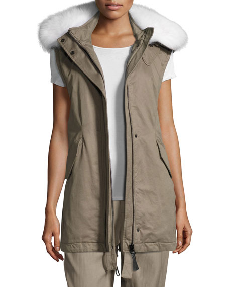 Derek Lam 10 Crosby Utility Cotton Vest w/