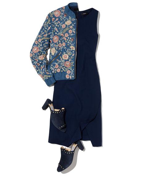 Risbana New Stretch Wool Sheath Dress