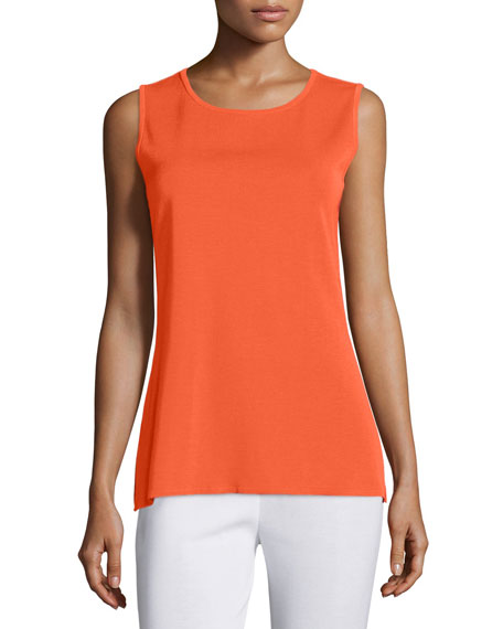 Misook Sleeveless Long Tank, Hot Tamale