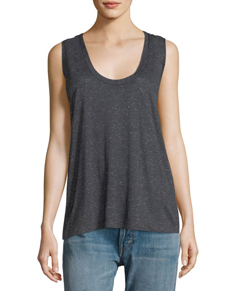 Etoile Isabel Marant Ricky Scoop-Neck Sleeveless Speckled Tank