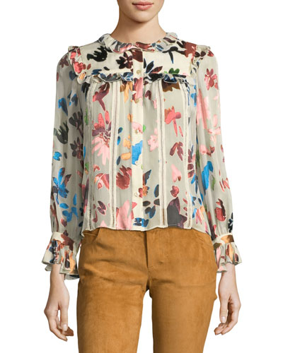 Malinda Button-Front Blouse