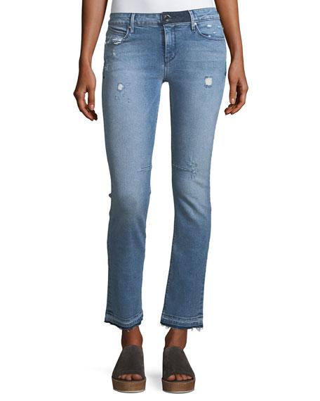 RtA Denim Curtis Low-Rise Straight-Leg Jeans