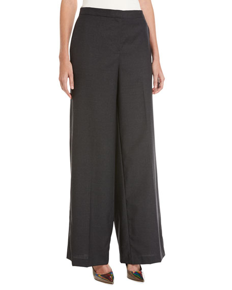 Robert Rodriguez Slouchy Wide-Leg Boyfriend Wool Trousers,