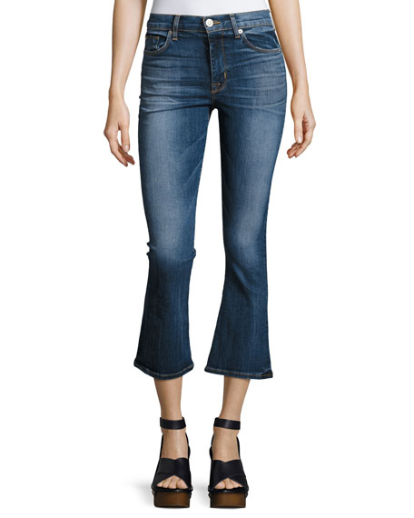 Hudson Brix High-Rise Crop Flared Jeans, Indigo