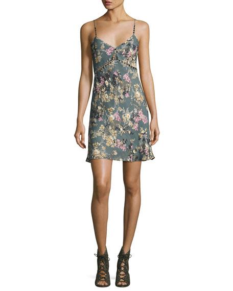 Haute Hippie Chain Cami Silk Slip Dress, Multi