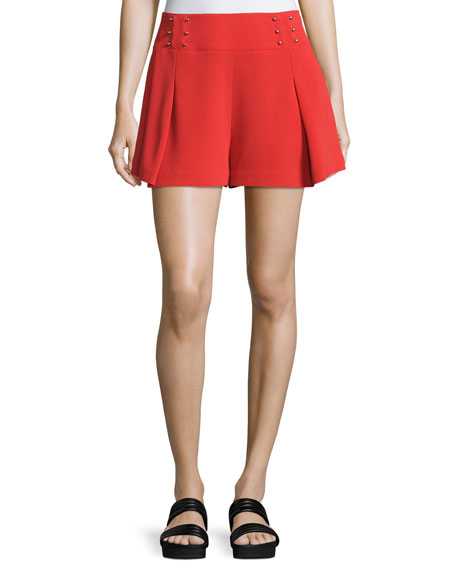 Derek Lam 10 Crosby Sailor Mid-Rise Shorts W/